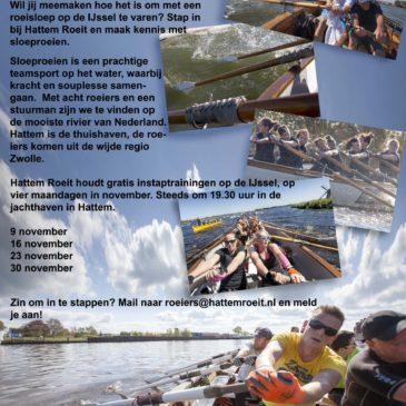 Sloeproeien op de IJssel – stap in!